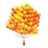 Big bunch of party balloons. Cube shaped. Stock Photo