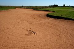 Big Bunker/Sand Trap Stock Photo