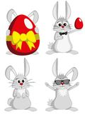 Big Bunny Collection - Funny male rabbit mascots Royalty Free Stock Image