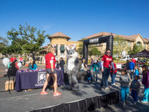 Big Bunny Fun Run. CUPERTINO, CA - APRIL 4: Annual Big Bunny Fun Run, an event that celebrates positive, healthy, and connected community on April 4, 2015 in Stock Photography