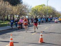 Big Bunny Fun Run. CUPERTINO, CA - APRIL 4: Annual Big Bunny Fun Run, an event that celebrates positive, healthy, and connected community on April 4, 2015 in Royalty Free Stock Photography