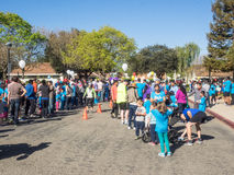 Big Bunny Fun Run. CUPERTINO, CA - APRIL 4: Annual Big Bunny Fun Run, an event that celebrates positive, healthy, and connected community on April 4, 2015 in Stock Photos
