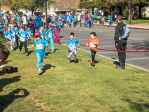 Big Bunny Fun Run. CUPERTINO, CA - APRIL 4: Annual Big Bunny Fun Run, an event that celebrates positive, healthy, and connected community on April 4, 2015 in Royalty Free Stock Photos
