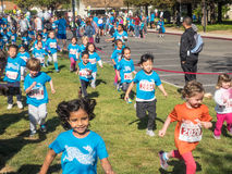 Big Bunny Fun Run. CUPERTINO, CA - APRIL 4: Annual Big Bunny Fun Run, an event that celebrates positive, healthy, and connected community on April 4, 2015 in Stock Images