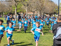 Big Bunny Fun Run. CUPERTINO, CA - APRIL 4: Annual Big Bunny Fun Run, an event that celebrates positive, healthy, and connected community on April 4, 2015 in Royalty Free Stock Images