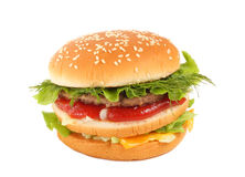 Big burger Stock Images