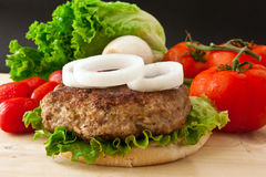 Big Burger Royalty Free Stock Photography