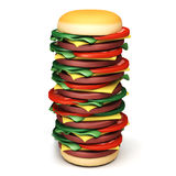 Big burger Stock Photos