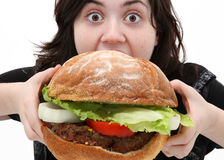 Big Burger Royalty Free Stock Photo