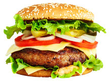 Big burger Royalty Free Stock Photos