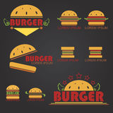 Big Burger. Logo for  business about fastfood shop - vector Stock Image