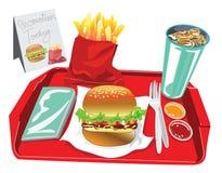 Big Burger Set Stock Photo