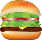 Big burger on white background Stock Photography