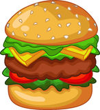 Big burger for your design Royalty Free Stock Image