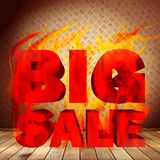 Big burn sale template interior. Stock Images