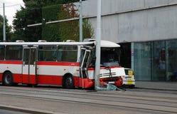 Free Big Bus Crash On Streets Of Prague Royalty Free Stock Images - 140385129