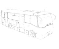 Big bus. Wire frame Stock Images
