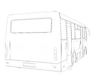 Big bus. Wire frame Stock Image