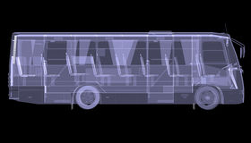 Big bus. X-ray Stock Photography