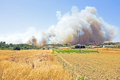 Big bushfire threatens homes in Portugal Stock Image