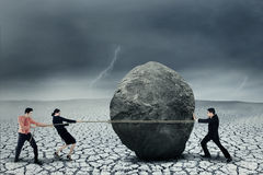 Big business adversity Stock Images