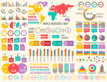 Big business flat infographic elements set for Royalty Free Stock Image