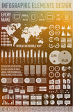 Big business flat infographic elements set for Stock Image