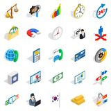 Big business icons set, isometric style. Big business icons set. Isometric set of 25 big business vector icons for web isolated on white background Stock Photo