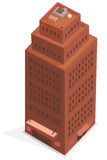 Big Business Isometric Building Stock Photo