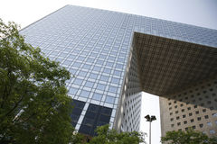 Big business La Defense - Paris. Futuristic corporate office building - La Defense, Paris Royalty Free Stock Photography