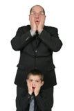 Big Business Man and Little Business Man Stock Photos