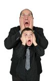 Big Business Man and Little Business Man Royalty Free Stock Photo