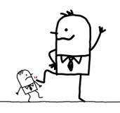 Big businessman & small one stock illustration