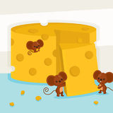 Big butter with three mice.vector illustration. Big butter with three mice Royalty Free Stock Photography