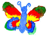 The big butterfly Stock Images