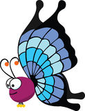 Big butterfly. Illustration of cute cartoon butterfly Stock Image