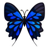 Big butterfly icon, cartoon style Royalty Free Stock Photo