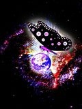 Big Butterfly Saves the World royalty free illustration