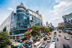 Big C supercenter, in the opposite of Central World, on Rajdamri Royalty Free Stock Images