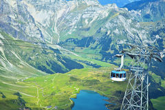 Big cable car in the Alps Stock Photos
