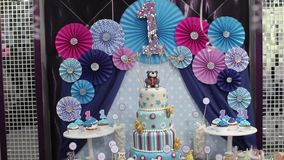 Big cake stock video footage