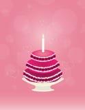 Big cake with cherry Stock Image