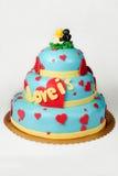 Big cake on white Royalty Free Stock Photo
