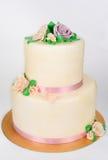 Big cake on white Royalty Free Stock Image