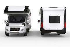 Big camper van - front and back shot Stock Photo