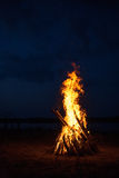 Big Campfire Stock Images