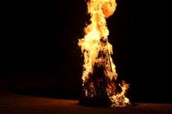 Big campfire Royalty Free Stock Photography