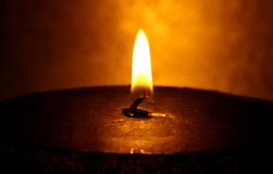 Big candle. A shot of a giant candle with shallow DOF Royalty Free Stock Images