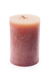 Big candle isolated on a white Stock Image