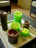 Big candles Stock Photos